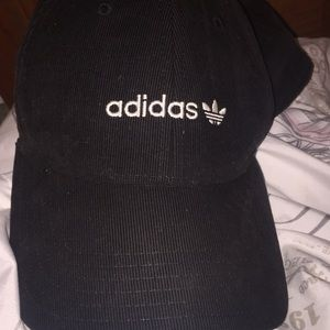 Black velvet adidas strap back hat